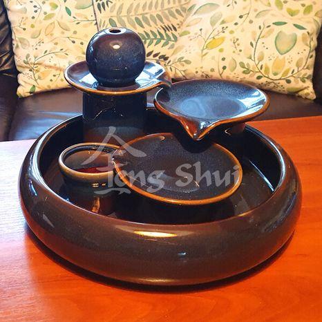 Keramická fontána Locarno modrá