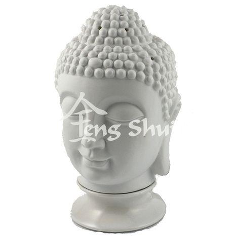 Lampa + Aromalampa Buddha, biela