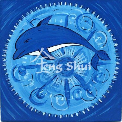 Obraz Mandala Delfín 4, 15x15 cm