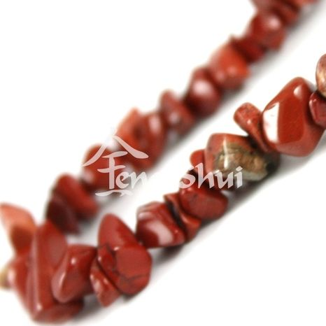 Náhrdelník Jaspis červený 45 cm