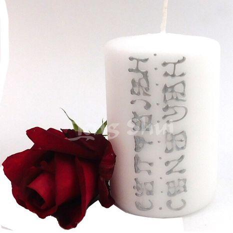 Anjelská sviečka Očista, Čistota, biela