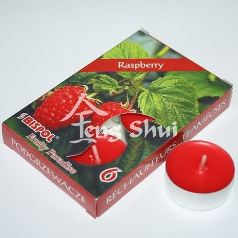 Voňavé čajové sviečky Maliny (Raspberry)