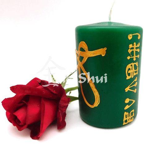 Anjelská sviečka Zdravie, zelená