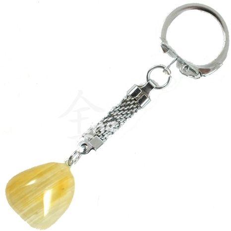 Kľúčenka Achát žltý