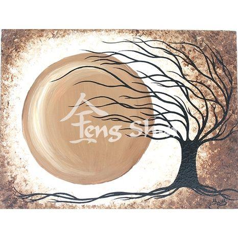 Obraz Strom života 4, 21x16, hnedý