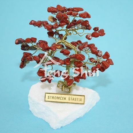 Stromček šťastia Jaspis červený 9 cm