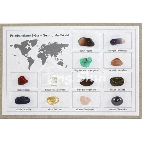 Zbierka minerálov sveta 12 ks